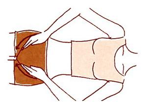 鼠径部のリンパマッサージ